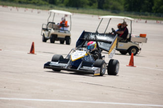 Formula SAE vehicle during race