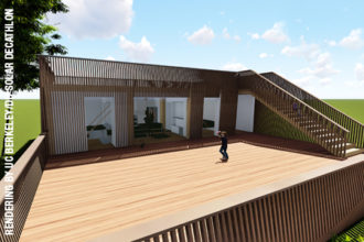 render of solar decathlon team's proposed house