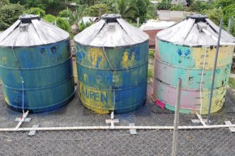 Water tanks from Engineers without Borders project